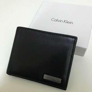 🚚 Calvin Klein皮革短夾(二手)