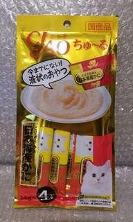 9.4 雞胸肉x日本海產螃蟹 Ciao Churu 貓貓小食糊仔 零食 4條裝 14g x 4本入 日本製品