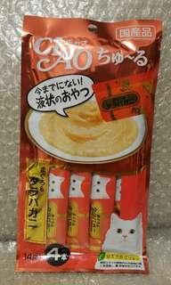 10.4 金槍魚x帝王蟹 Ciao Churu 貓貓小食糊仔 零食 4條裝 14g x 4本入 日本製品