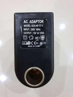 Car 12v cigarette plug for home use