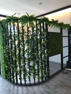 Artificial wall plants with installation