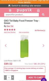 Oxo freezer tray baby food