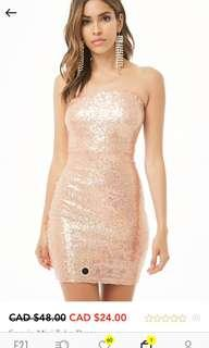 Sequin Strapless New Years Dress