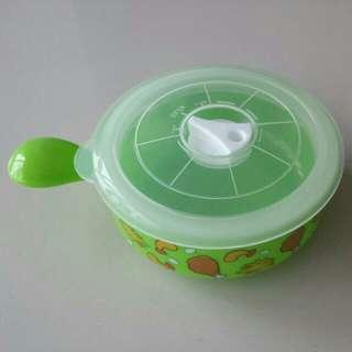 🎄Brand New Microwavable / Freezer Bowl Container With Cover / Lunch Box (Green)