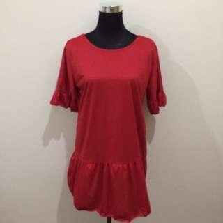 Red Dress Criss Cross Back
