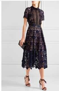 Navy blue Lace Dress-Small