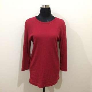 Uniqlo Red Longsleeves Sweater/ Long Top