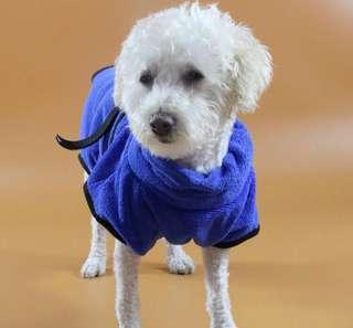 [Instock] dog bathrobe / Pet Bathrobe / bathe robe / micro fibre cloth