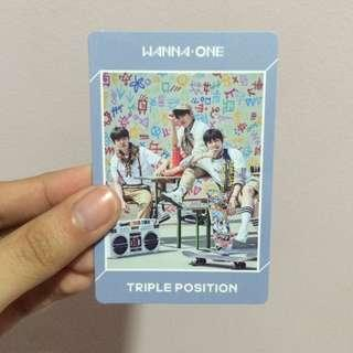 WANNA ONE TRIPLE POSITION OFFICIAL PHOTOCARD
