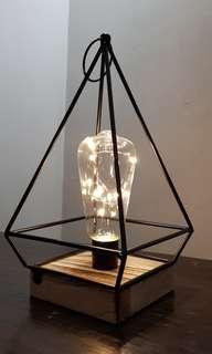 Pyramid Terrarium Fairy lights Lamp