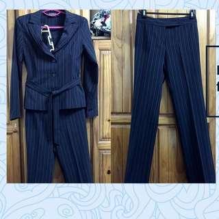🚚 Naturally JoJo🌿條紋黑色西裝外套、長褲套裝