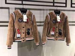 🚚 ✨超限量✨COACH x Disney 2018 女款羔羊毛棒球外套
