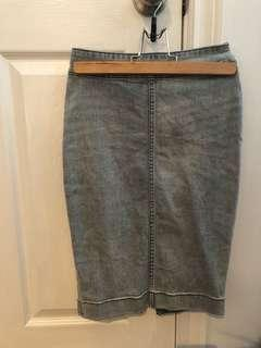 Wilfred free knee-length jean skirt