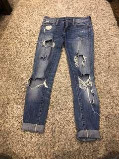 Destressed Ralph Lauren jeans