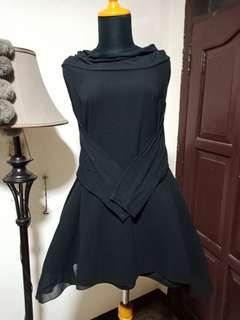Dress sabrina kalong hitam