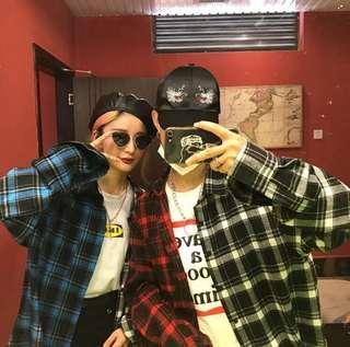 🌸PREORDER🌸 uzzlang two colour checkered outerwear