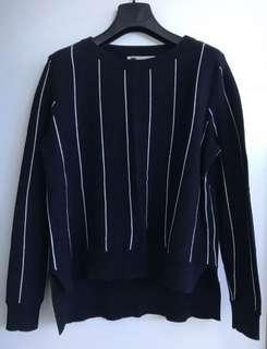 Navy stripes jumper cotton