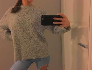 Zara salt and pepper Oversized Sweater