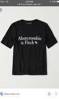 Abercrombie & Fitch Cozy metallic logo tee