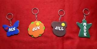 Name Tag Key Chain Polymer Clay Personalized