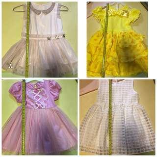 多件 belle 美女與野獸 長髮公主 公主裙 花女裙 2-4歲 $40起