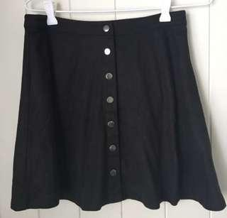 Black Dotti Skirt