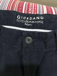 Black Bermudas Shorts Casual Vacation Giordano Cinema