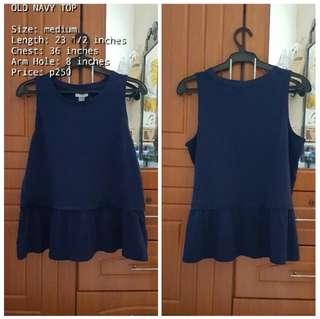 OLD NAVY BLUE TOP