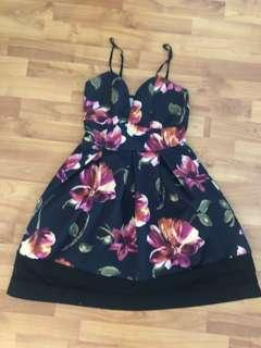 Boo Hoo Floral Black Dress