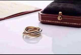 Cartier tri-color ring