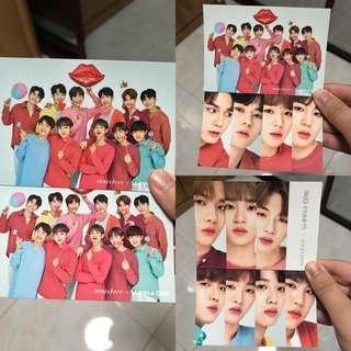 (2 pcs) Wanna One Official Photocard