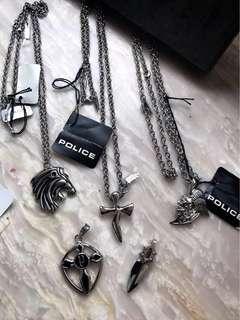 正品全新 POLICE 鋼 長頸鏈 聖誕禮物 一條價