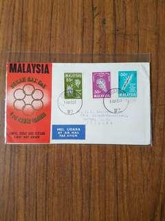 Malaysia 14.12.65 SEA Games FDC with Singapore postmark