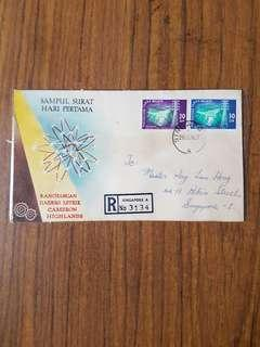 Malaysia 26.6.63 FDC with Singapore postmark