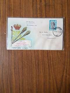 Malaysia 04.01.61 KING Dec with Singapore postmark