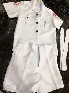 Used Very Good Condition Red Cross St John Primary 4-6 School Boys Uniform CCA Cosplay Costume Party