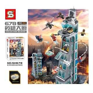 SY™ SH678 The Avengers Tower Upgrade Version
