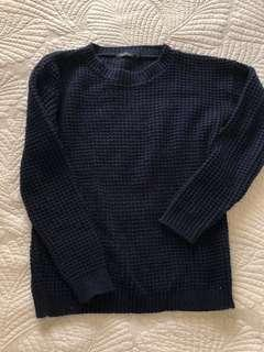 Boohoo knitted navy sweater