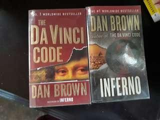 Pre-loved Dan Brown's The Davinci Code & Inferno