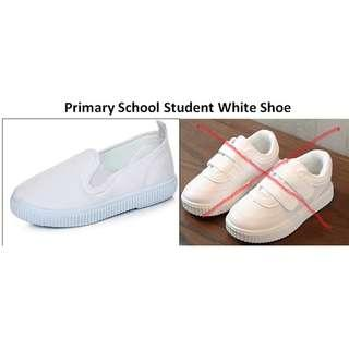 Primary School Student White Sneakers Canvas Shoes for Girls Boys (Suitable for Primary One)