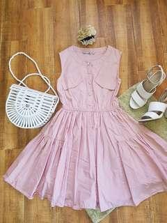 Baby pink balloon dress