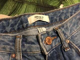 Distressed Denim Jeans Size 25