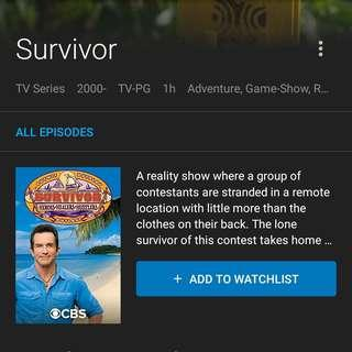 Survivor (by Request for any Seasons/Chapter)