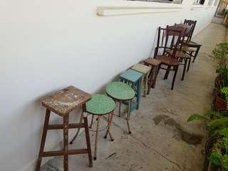 Vintage Chairs and Benches