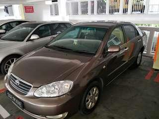 Car for rent. Toyota altis