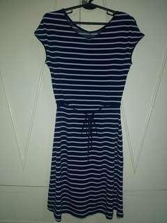 Uniqlo Cotton Stripes Dress