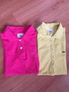 Get both! 2 authentic lacoste polo