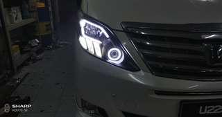 Doing modify headlight and custom headlight