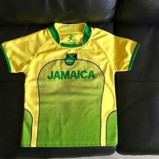 🚚 全新🇯🇲亞買加 足球上衣 女生 或 大童 Jamaica football jersey   Reggae dancehall Rasta