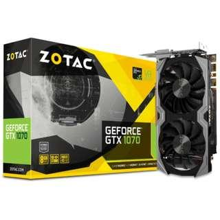Zotac GTX1070 Mini 8GB with Backplate